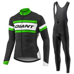 Wholesale Giant Cycling Pants - Hot New Team Giant 2017 Winter Cycling Jerseys Long Sleeve Men  Women Thermal Fleece Cycling Clothing + Winter Cycling Pants Kit Invierno