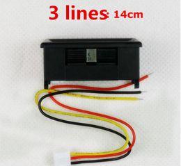 Wholesale mini volt meter - 10pcs DC 0-33.000V 5bits three-wire Mini Digital Volt Red LED Panel Meter Digital Voltage Automotive Digital Voltmeter