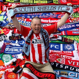Wholesale Wholesale Football Scarves - Football Scarves Hot Sale Sarves 2016 Scarves For Fan Pack 24 Strong Football Hot Free Shipping