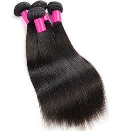 Wholesale 4bundles Virgin Indian Hair - 7A Peruvian Hair 4Bundles Malaysian Virgin Hair Extensions Mink 8A Grade Malaysian Straight Human Hair Weave 100% Natural Black Human Hair