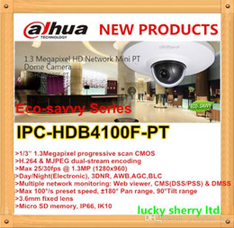 Wholesale Dome Ip Cam - New arrival security camera new type mini pt dome cam 1.3mp Dahua water-proof & hd poe network ip camera IPC-HDB4100F-PT