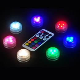 Wholesale Waterproof Mini Switch - 10pcs Lot Super Bright LED Submersible Leds Light Waterproof LED Mini Party Light For Wedding Party Events Decoration