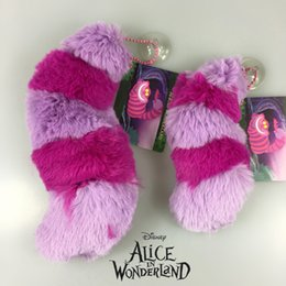 "Wholesale Cute Cat Anime - Free Shipping EMS Cute Alice In Wonderland Cheshire Cat Tail 5"" Soft Stuff Plush Toy Doll Birthday Gift Collection"