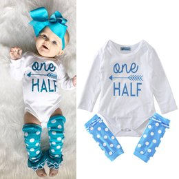 Wholesale Color Leopard Jumpsuit - New Kids Clothing Sets Blue Arrow Jumpsuits Winter Autumn Spring Long Sleeve Baby Casual Suits Infant Rompers 0-24M