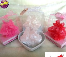 Wholesale Wedding Favor Bell Box - 10pcs Bell shape Candle Wedding Baby Shower Birthday Souvenirs Gifts Favor Packaged with PVC Box