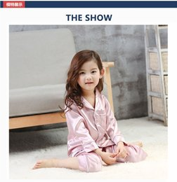 Wholesale Thin Silk Baby - Children Clothing Home Suit Spring Summer Silk Girl and Boy Pajamas Thin Section Baby Cotton Leisurewear Child Air Condition Clothes YL04