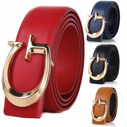 Wholesale G White Belts - Red Luxury Solid G Designer Belts Men High Quality Male Women Genuine Real Leather G Buckle Strap for Jeans