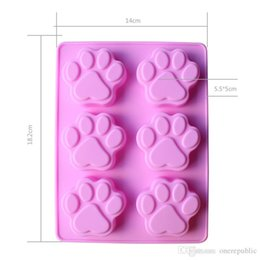 Wholesale Chocolate Moulds Sale - 30pc Hot sales Lovely Cat Paw Silicone Mold Fondant Cake Decorating Tools Silicone Soap Mold Silicone Cake Mold Free Shipping 2106