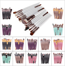 Wholesale Make Up Brush Set 15pcs - Hot Sale 15Pcs Set Pro Makeup Blush Eyeshadow Blending Set Concealer Cosmetic Make Up Brushes Tool Eyeliner Lip Brushes Accessories