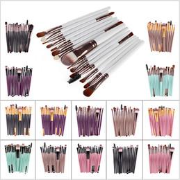 Wholesale Lips Accessories - Hot Sale 15Pcs Set Pro Makeup Blush Eyeshadow Blending Set Concealer Cosmetic Make Up Brushes Tool Eyeliner Lip Brushes Accessories