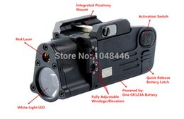 Wholesale Laser Light Rifle - XWXS Tactical CNC sbal-pl Finished LED Light With Red Laser Pistol Rifle Flashlight Constant Momentary Strobe Flashlight