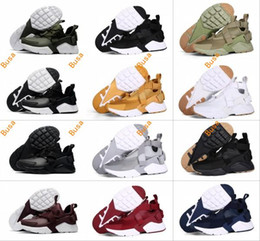 Wholesale Huaraches Basketball Shoes - 2017 New Air Huarache 5 V Men Running Shoes Cheap Green White Black Sneakers Mens Huaraches Boot Trainers huraches Presto Sports Shoes