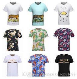Wholesale Animal Print 22 - Have logo ! ! New Fashion Women Men's T-Shirt Polos Students Short sleeve Tee tops Italy Brand G Boys girls Casual Shirt 22 styles