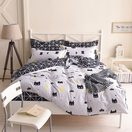 Wholesale Child Comforters - Bedding Set Bedsheet Reactive Printing Children Superman Pattern Twin Size Home Textiles Duvet Covers Bed Linen Pillow Cases Wholesale