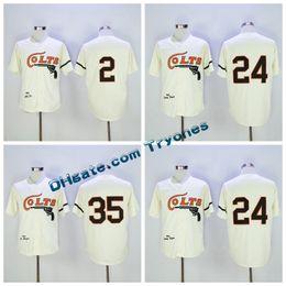 Wholesale Vintage Jersey Baseball - Throwback Houston Colt 45s Baseball Jerseys Cooperstown 35 Joe Morgan 2 Nellie Fox 24 Jimmy Wynn Vintage 1964 Turn Back Stitched Jersey