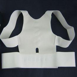 Kunststoffgürtel zurück online-Magnetische Rückseiten-Schulter-Körper-Korrektor strecken heraus Zahnriemen-orthopädische justierbare Unisexgesundheitsgurte mit Plastikschnallen