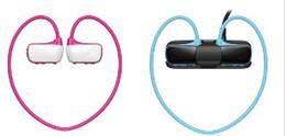 Wholesale Water Proof Headphones - W273 Sports Mp3 player headset 8GB Wireless Sweat-band Walkman Running earphone Mp3 player headphone water-proof Free Shipping