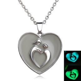 Wholesale Resin Heart Necklace - 2016HOT Selling Fashion Women Men Couple The Little Mermaid's Teardrop Glow in Dark Pendant Necklace Gift Glowing Jewelry Lovers' ZJ-0903571