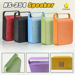 Wholesale Plastic Card Systems - HS-345 Wireless Mini Bluetooth Speaker Sound System 3D Stereo Music Surround Cloth Wireless Speakers TF Card USB Player with FM Radio