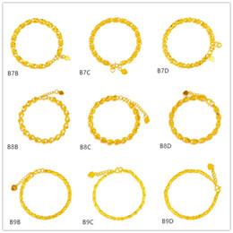 Canada Poisson personnalisé coeur or jaune creux bracelet 8 pièces de style mixte GTKB3, nouveau bracelet en or 24k de haute qualité pour femmes de mode de haute qualité supplier mix style bracelet brand Offre