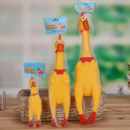 Wholesale Chicken Toy Sound - Hot sales dog toys funny Puppy Chews Squeaker Sound chick Creative Trick Screaming chicken Dog Toys Chews