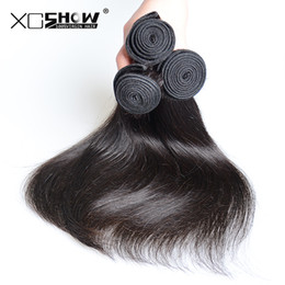 Wholesale Indian Hair Smooth - 9A Qualified Softest And Smoothest Brazilian Indian Peruvian Virgin Remy Human Hair Weaves Straight Extensions 4pcs lot No Shed No Tangle