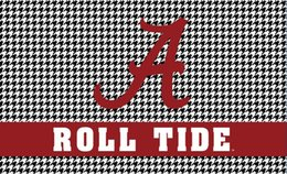 Wholesale Alabama Flags - 3ftx5ft Polyester Alabama Crimson Roll Tide grid style flag with metal Grommets