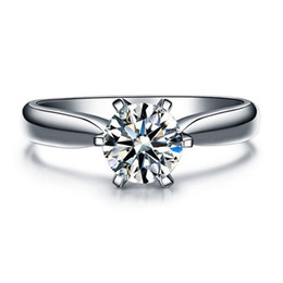 Wholesale Nscd Diamond Wedding Sets - ZNM Jewelry 1 Ct NSCD Simulated Diamond Engagement Wedding rings for women