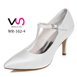 Wholesale White Pointy Toe Pumps - Plain Ivory Color Pump Pointy Toe Elegant Style Bridal Shoe Wedding Dress Shoes Handmade Shoes for Wedding From Size35-Size 35 Free Shipping