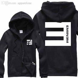 Wholesale Sweatshirt Eminem - Wholesale-Eminem 2015 mens Autumn winter Street Hip Hop eminem Hoodies casual sportswear warm eminem Sweatshirts Men Plus Size 4XL Hoody