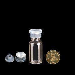 Wholesale Butyl Stopper - 100pcs 5ml Micro Butyl Rubber Stopper Sample Glass Bottles Vials Jar 40x18mm
