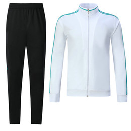 Wholesale Men Sports Long Pant - ^_^ Wholesale madrid tracksuit top AAA quality long sleeve Training suit pants football training clothes sports wear mens Sweater