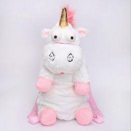 Wholesale Fluffy Animals - Unicorn Cute Plush Backpacks 50CM Cartoon Animal Doll Soft Stuffed Toy Children Kid Fluffy Bag 50pcs OOA3163