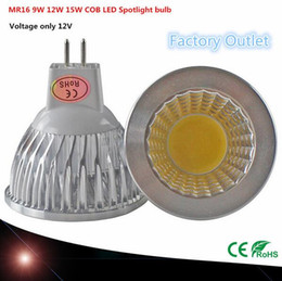 Wholesale Super Deals - 1pcs Super deal MR16 COB 9W 12W 15W LED Bulb Lamp MR16 12V ,Warm White Pure Cold White led LIGHTING