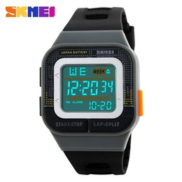 Wholesale Water Week - Original SKMEI 1186 Women's Men's Sport LED Digital Waterproof Date Week rubber strap Multifunction Wrist watch