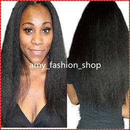 Wholesale Blonde Yaki Full Lace Wigs - Lace Wigs Yaki Straight 100% Brazilian Human Hair Unprocessed Full Front Lace Human Hair Wigs For Black Women Free Shipping