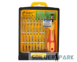 Wholesale Micro Precision - 1set 32 in 1 set Micro Pocket Precision Screw Driver Kit Magnetic Screwdriver cell phone tool repair box New Free Shipping order<$18no track