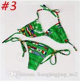Wholesale Union Jack Bikini Swimwear - 1000ps CCA3617 High Quality Lady Bikini Union Jack Flag Swimwear UK Stars Stripes Flag Twist Padded Flag Halter Bathing Suit Flag Bikini