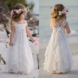 Wholesale Special Occasion Dresses For Kids - Dollcake Flower Girl Dresses Special Occasion For Weddings Ruffled Kids Pageant Gowns Flowers Floor Length Lace Party Communion Dress Sash