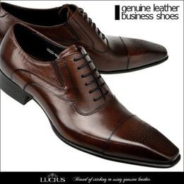 Wholesale High Low Designer Dresses - Black and brown Business shoes, high quality men's shoes men's brand leather Oxford Shoes Italy designer wedding dress men