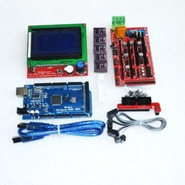 Wholesale Silicon Plugs - Wholesale-3D Printer kit 1pcs Mega 2560 R3 + 1pcs RAMPS 1.4 Controller+ 5pcs DRV8825 Stepper Motor Drive + 1pcs LCD 12864 controller