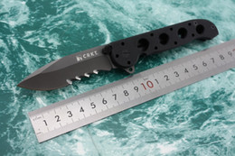 Wholesale Tc4 Titanium Alloy - OEM CRKT M21-02G Tactical pocket folding knife 8Cr13mov titanize Blade Black G10 handle with Original box for EDC hunting camping