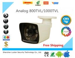 Wholesale Cctv Casing - Free Shipping Plastic Case CCTV Camera Analog 800TVL 1000TVL IR Cut Day Night Vision Outdoor Waterproof Camera Surveillance