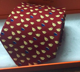 Wholesale Silk Knit Tie Pattern - Hot ties! H055 men neckties cartoon Sheep Horse Birds pattern business ties(Black Burnt orange Chocolate),French brand handmade men's ties