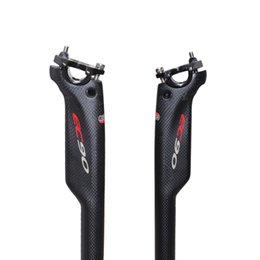 Wholesale Carbon Fiber Mtb Parts - EC90 full carbon fiber road bicycle seatpost MTB bike parts seat post carbon 27.2 30.8 31.6* 350 400mm matte aero low drag seat pole