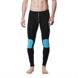 Wholesale Mens Long Johns Wholesale - Wholesale-Mens Modal Long Johns Warm Thermal Pants Splice Trousers Underwear Legging M-XLFreeShipping