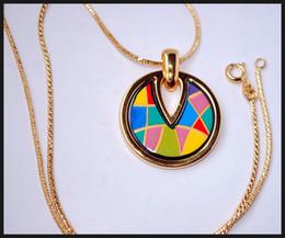 Wholesale Enjoy Life - Enjoy Life Series Necklaces18K gold-plated enamel necklaces Top quality drop-shaped pendant necklaces collier