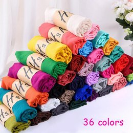 Wholesale Cotton Large Shawl - Wholesale new Women 36 pure colors autumn   winter cotton and linen warm scarves fashion super large beach scarf candy colored shawl