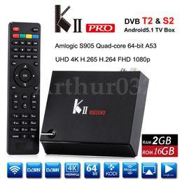 Wholesale Dvb S2 Hd - KII Pro DVB-S2 DVB-T2 Amlogic S905 Quad-core Android 5.1 TV Box 2G 16G UHD 4K 2.4G&5G Wifi Bluetooth 4.0 Kodi Pre-install Smart Media Player