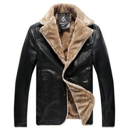 Wholesale Genuine Lamb Fur Coats - Fall-2015 Winter Thickening Brand New Men's Genuine Leather Luxury Fur Jackets Men Lamb Fur Warm Coat Plus Size XL-5XL 4M0133